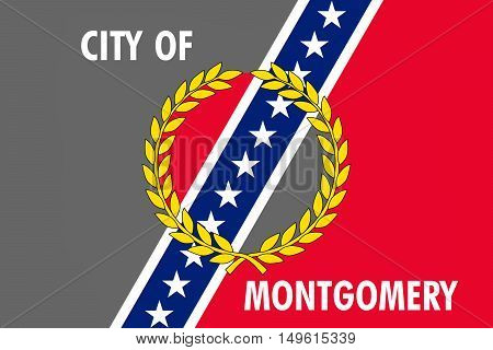 Flag of Montgomery is the capital city of Alabama United States