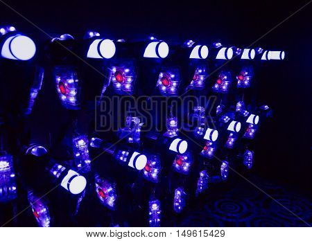 beautiful colorful background indoor laser tag holographic