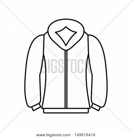 Sweatshirt icon in outline style on a white background vector illustration