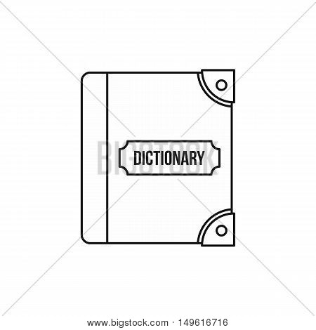 English dictionary icon in outline style on a white background vector illustration