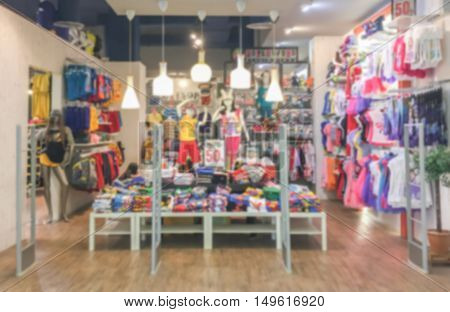 Blurred kids cloth shop.kids shop.kids shop.kid shop
