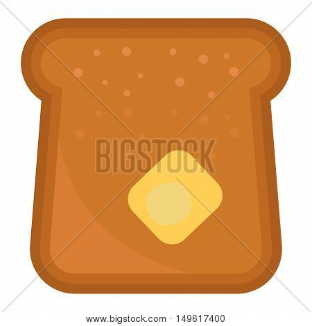 Slices of breakfast bread for toasting on white background nutrition diet sandwich vector. Toast slice sandwich slice. Delicious lunch dinner toast slice. Grilled bread crispy.