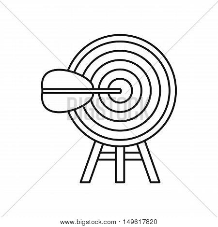 Target icon in outline style on a white background vector illustration