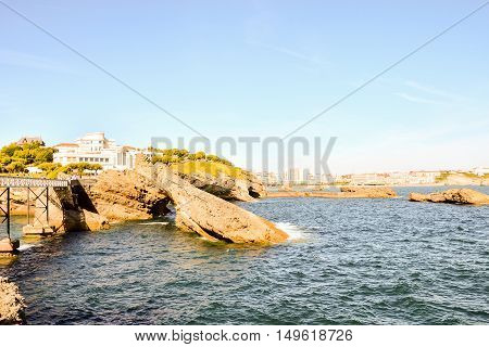 Details And Landscapes Of Biarritz City In France