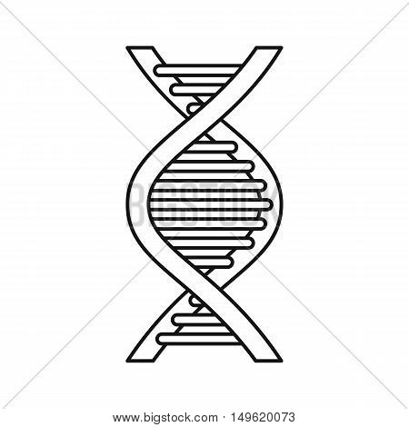 DNA strand icon in outline style on a white background vector illustration