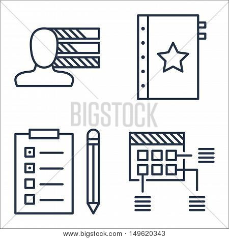 Set Of Project Management Icons On Quality Management, Personality, Planning And More. Premium Quali