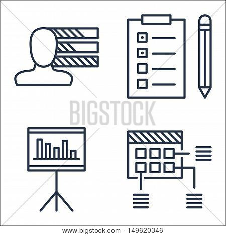 Set Of Project Management Icons On Task List, Personality, Planning And More. Premium Quality Eps10