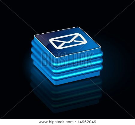3D Glossy Email Icon