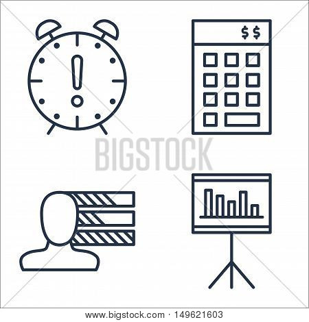Set Of Project Management Icons On Personality, Statistics, Deadline And More. Premium Quality Eps10