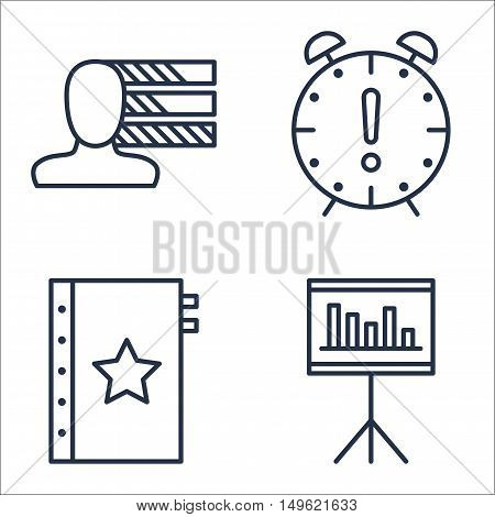 Set Of Project Management Icons On Quality Management, Deadline, Personality And More. Premium Quali