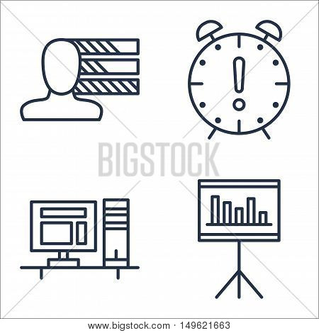 Set Of Project Management Icons On Personality, Deadline, Workspace And More. Premium Quality Eps10