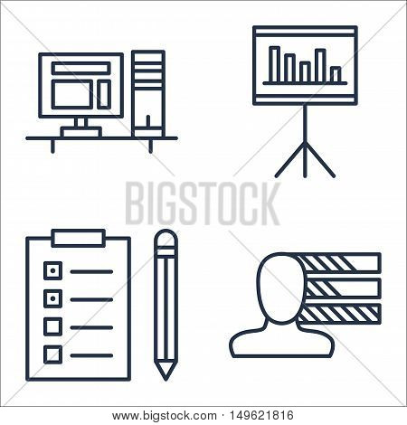 Set Of Project Management Icons On Personality, Task List, Statistics And More. Premium Quality Eps1