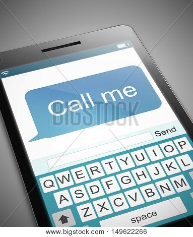 Call Me Message Concept.