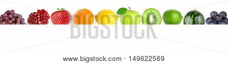 Color fresh ripe fruits. Healthy food concept