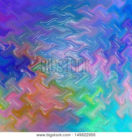 Abstract coloring background of the metals gradient with visual lighting,wave and plastic wrap effects.Good for your project design