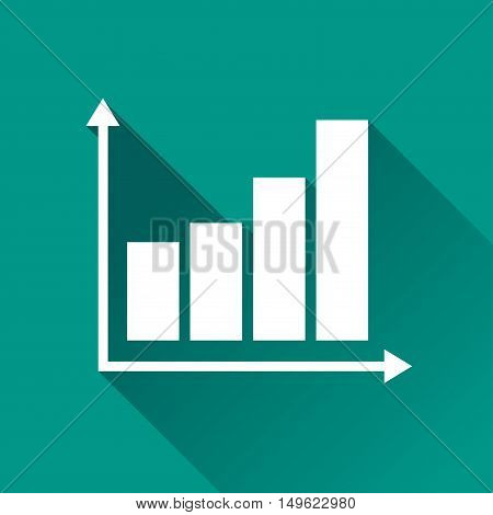 Illustration of graph design icon with shadow