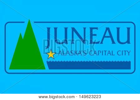 Flag of Juneau the capital of Alaska United States
