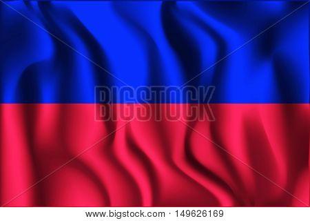 Flag Of Haiti. Rectangular Shaped Icon