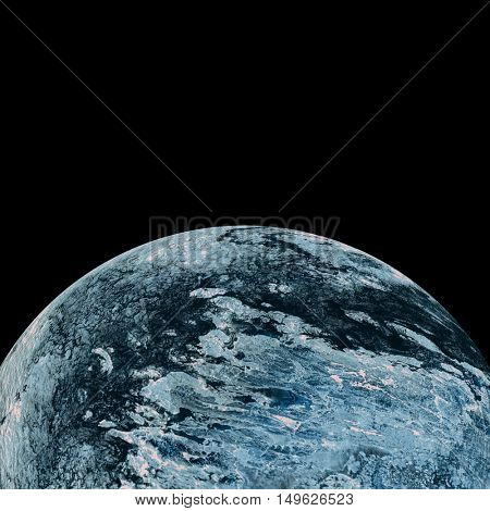 Digital image of earth over white background