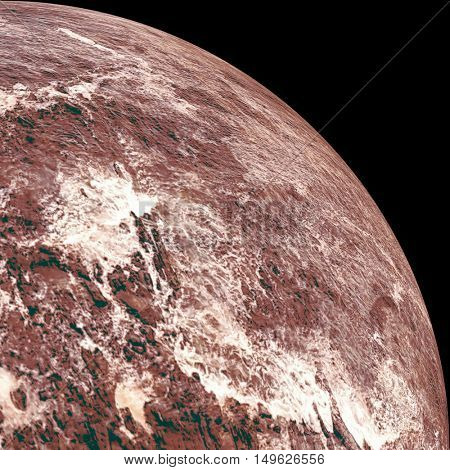 Digitally generated image of planet earth on white background