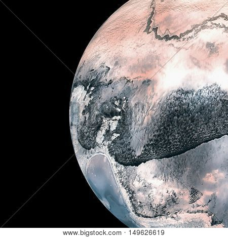 Composite image of earth over white background