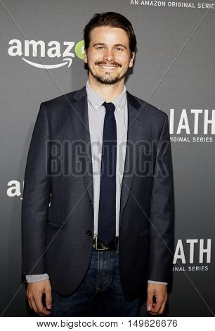 Jason Ritter at the Los Angeles premiere of Amazon's 'Goliath' held at the London Hotel in West Hollywood, USA on September 29, 2016.