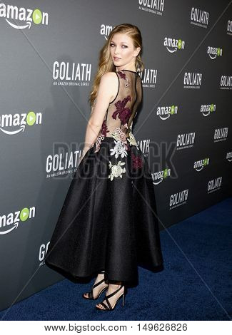 Diana Hopper at the Los Angeles premiere of Amazon's 'Goliath' held at the London Hotel in West Hollywood, USA on September 29, 2016.
