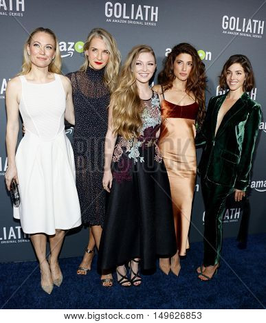 Sarah Wynter, Ever Carradine, Diana Hopper, Tania Raymonde and Olivia Thirlby at the Los Angeles premiere of Amazon's 'Goliath' held at the London Hotel in West Hollywood, USA on September 29, 2016.