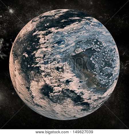 Composite image of earth on white background