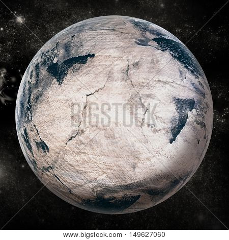 Composite image of globe on white background