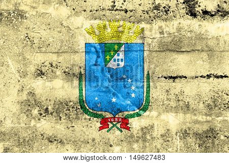 Flag Of Sao Luis, Maranhao, Brazil, Painted On Dirty Wall