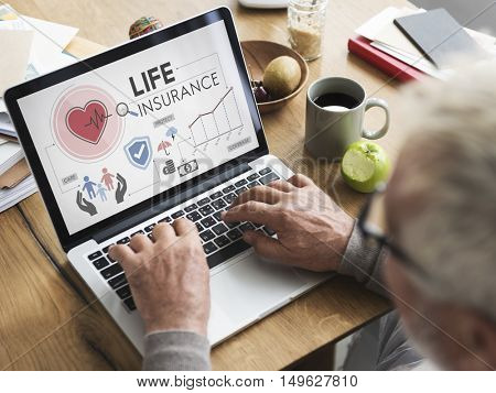 Life Insurance Senior Adult Investment Health Concept