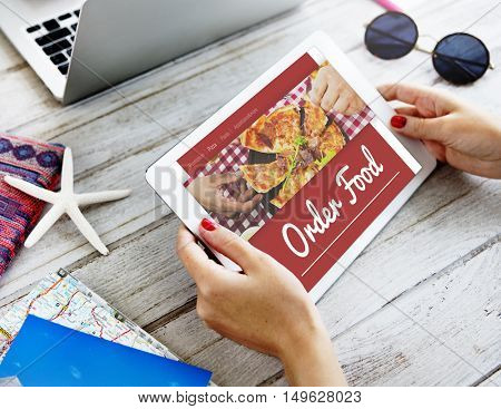 Food Order Pizza Online Internet Concept