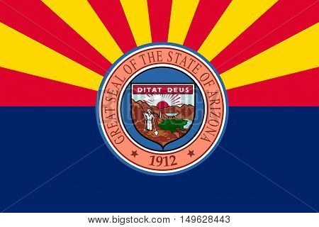 Flag of Arizona state in United States