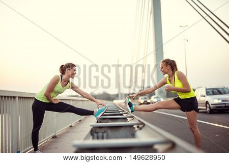 Friends Training Together