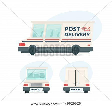 Isolated objects on white background in flat cartoon style. Vector illustration.