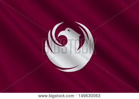 Flag of Phoenix in Arizona state United States. 3D illustration