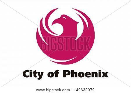 Flag of Phoenix in Arizona state United States