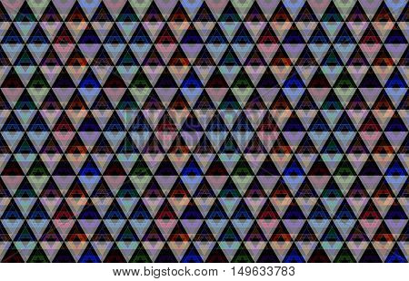 Geometric triangle crystals abstract bohemia textured art background