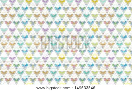 Geometric triangle crystals abstract geometric textured art background