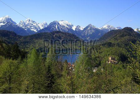 Hohenschwangau And Alpsee Lake