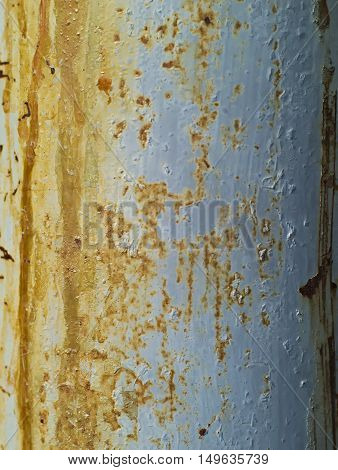 closeup shot of aged and decayed metal surface in brown and grey