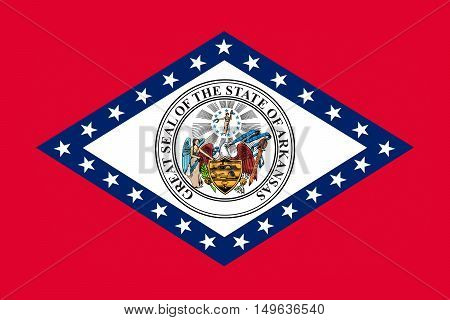 Flag of Arkansas is a state in United States