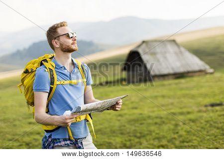 Young Man Hiking