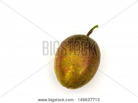 A Passion fruit. Isolate on white background
