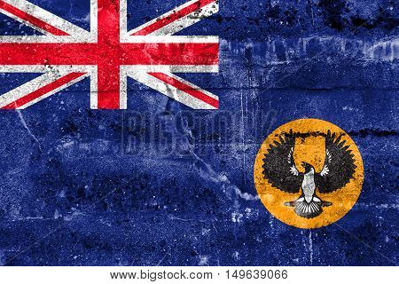 Flag Of South Australia State, Australia, Painted On Dirty Wall