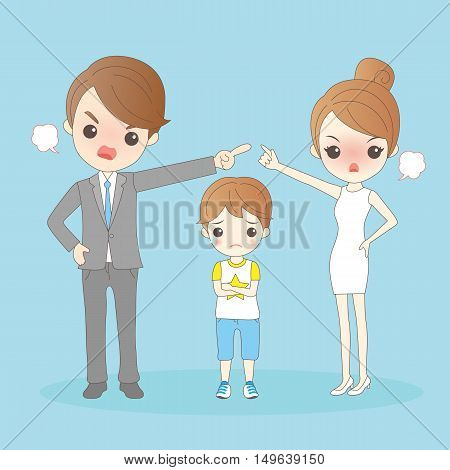 Cartoon couple in a quarrel great for your design