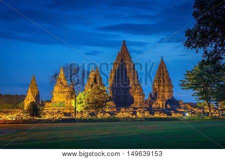 Hindu temple Prambanan at  Java Yogyakarta, Indonesia