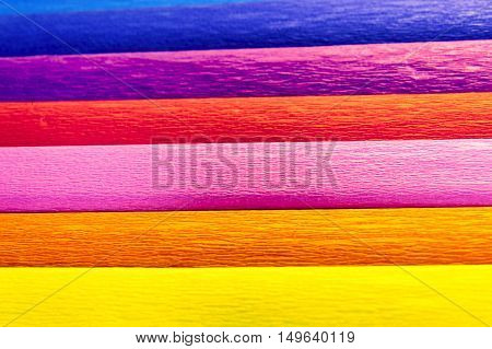 Colourful Crape Papers