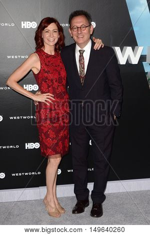 LOS ANGELES - SEP 28:  Carrie Preston, Michael Emerson at the HBO's